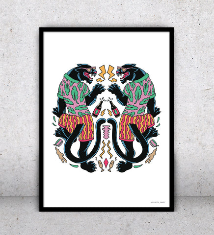 Party Panthers - Art Print