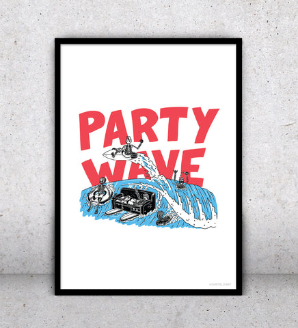 Party Wave - Art Print