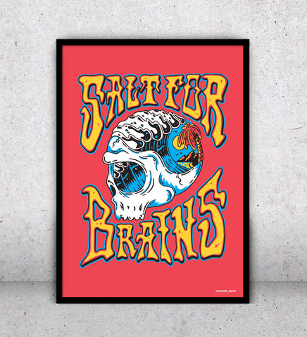 Salt for Brains Red - Art Print