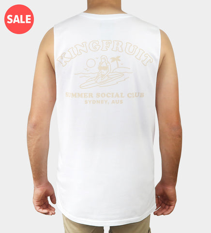 Summer Social Club Tank - White