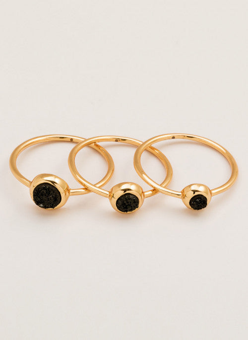 Gorjana Astoria Ring Set: Size 8