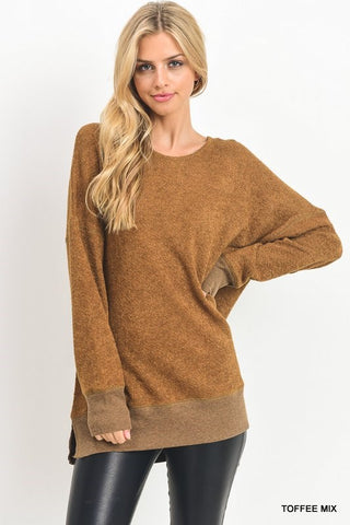 About Time Over Sized Toffee Sweatshirt