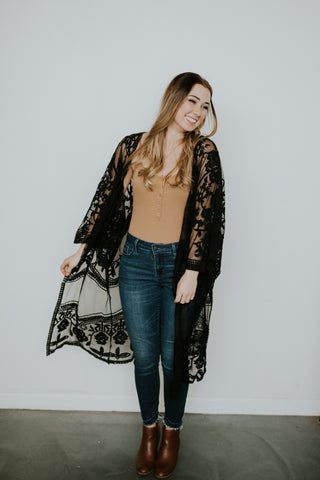 So Lacey Midi Duster