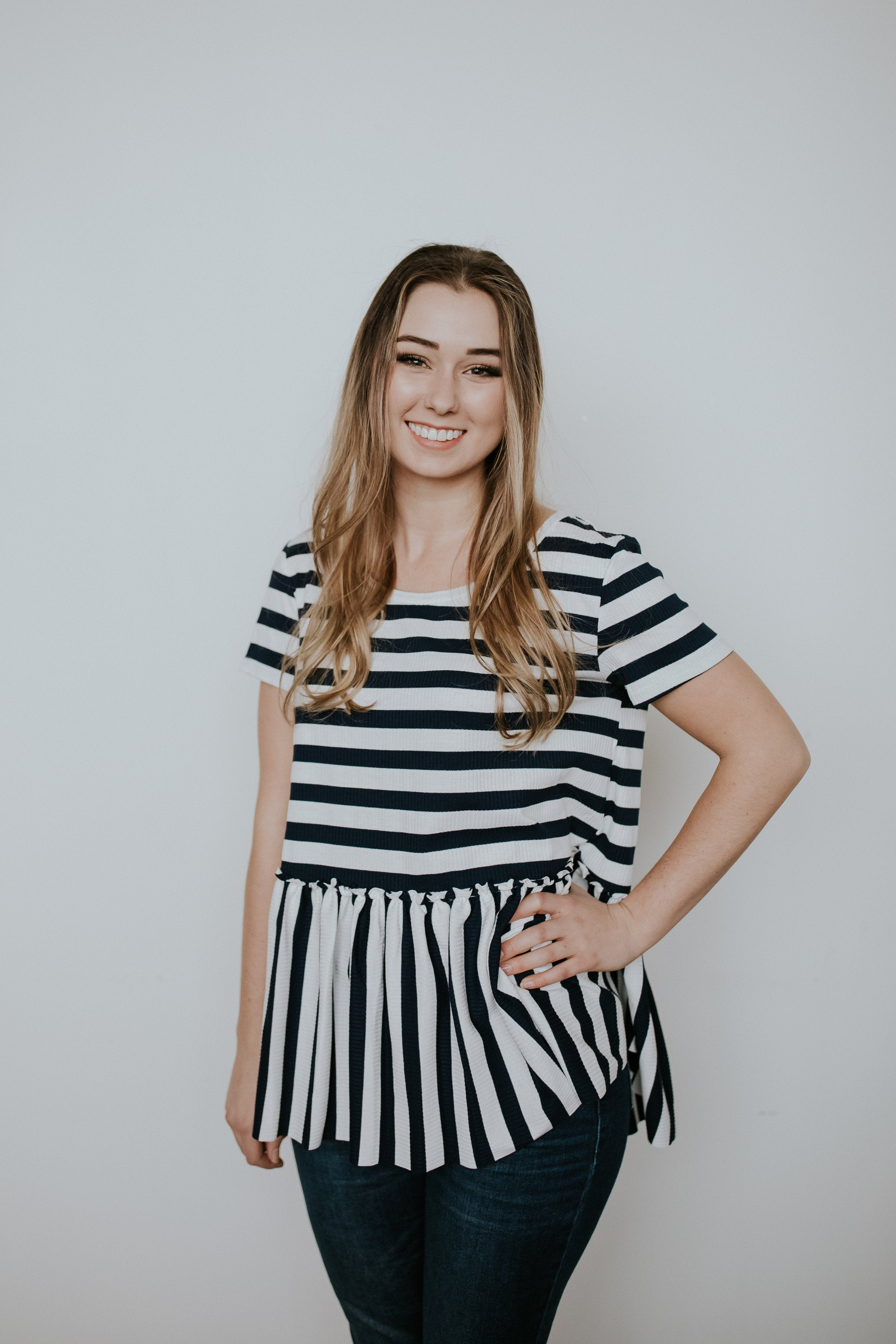 Just Right Stripes Top