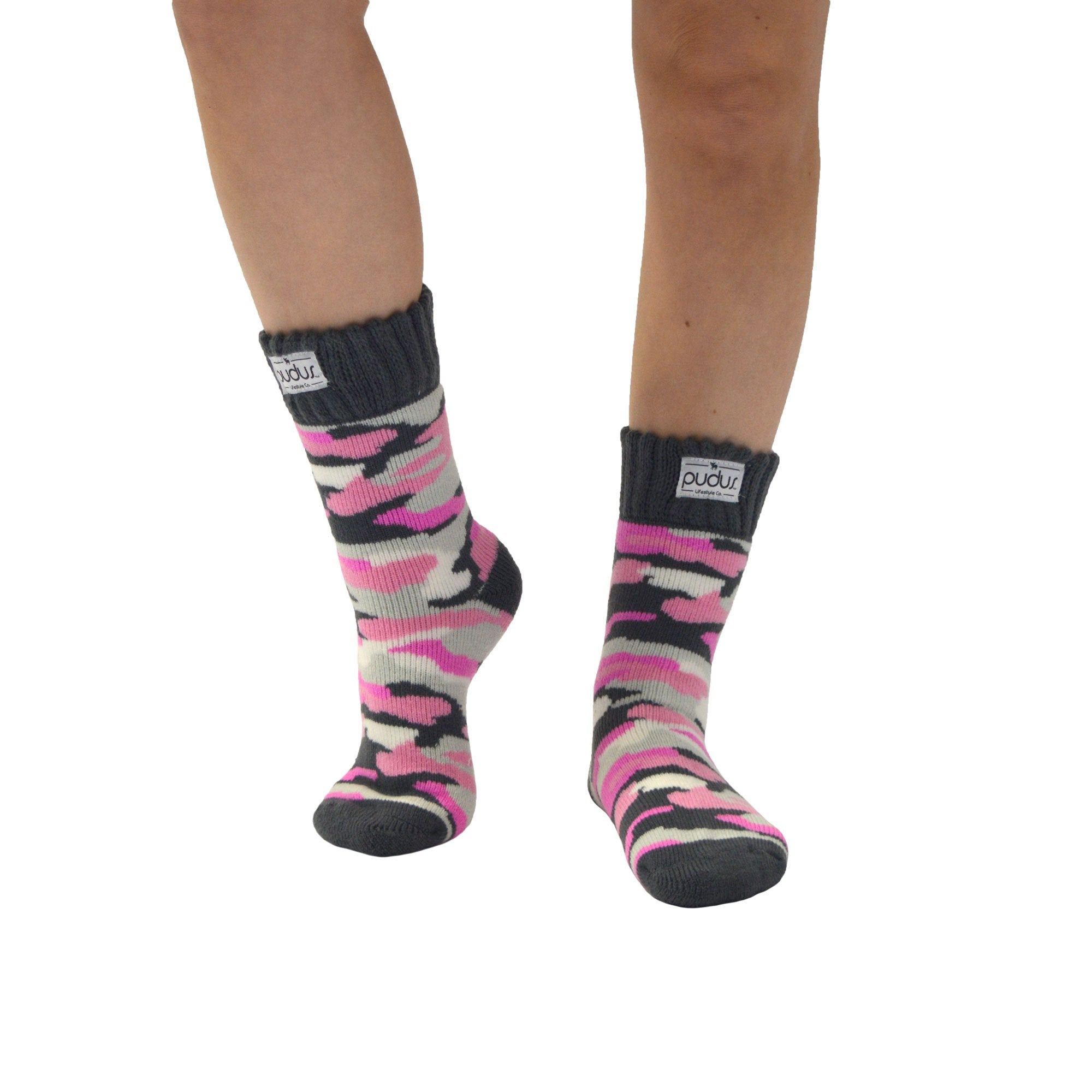Boot Socks | Camouflage Pink