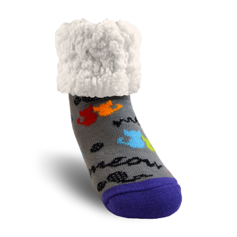 Classic Slipper Socks | Meow