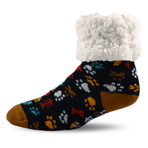 Kids Classic Slipper Socks | Dog Paw