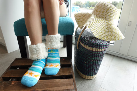 Classic Slipper Socks | Seashore