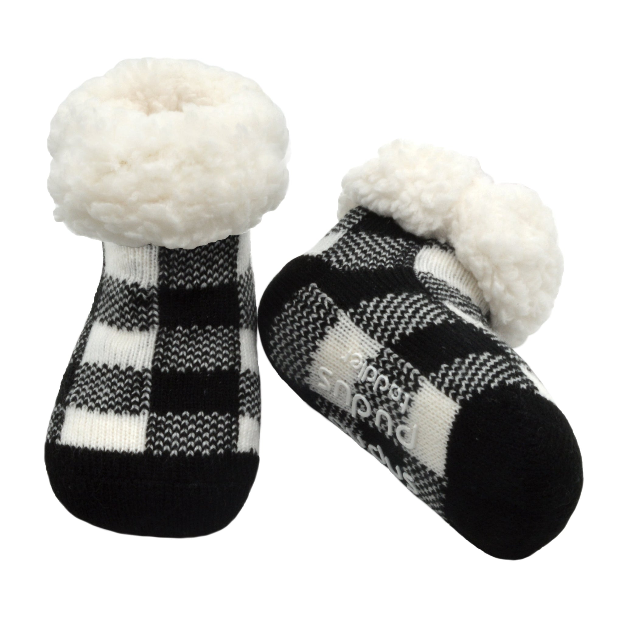 Toddler Classic Slipper Socks | Lumberjack White