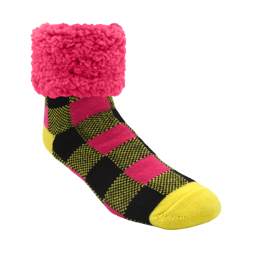 Bright Classic Slipper Socks | Lumberjack Yellow