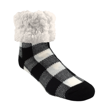 Classic Slipper Socks | Lumberjack Black