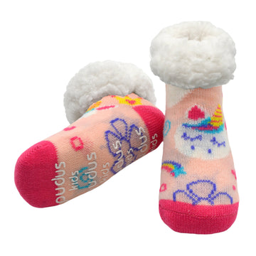 Kids Classic Slipper Socks | Unicorn Pink