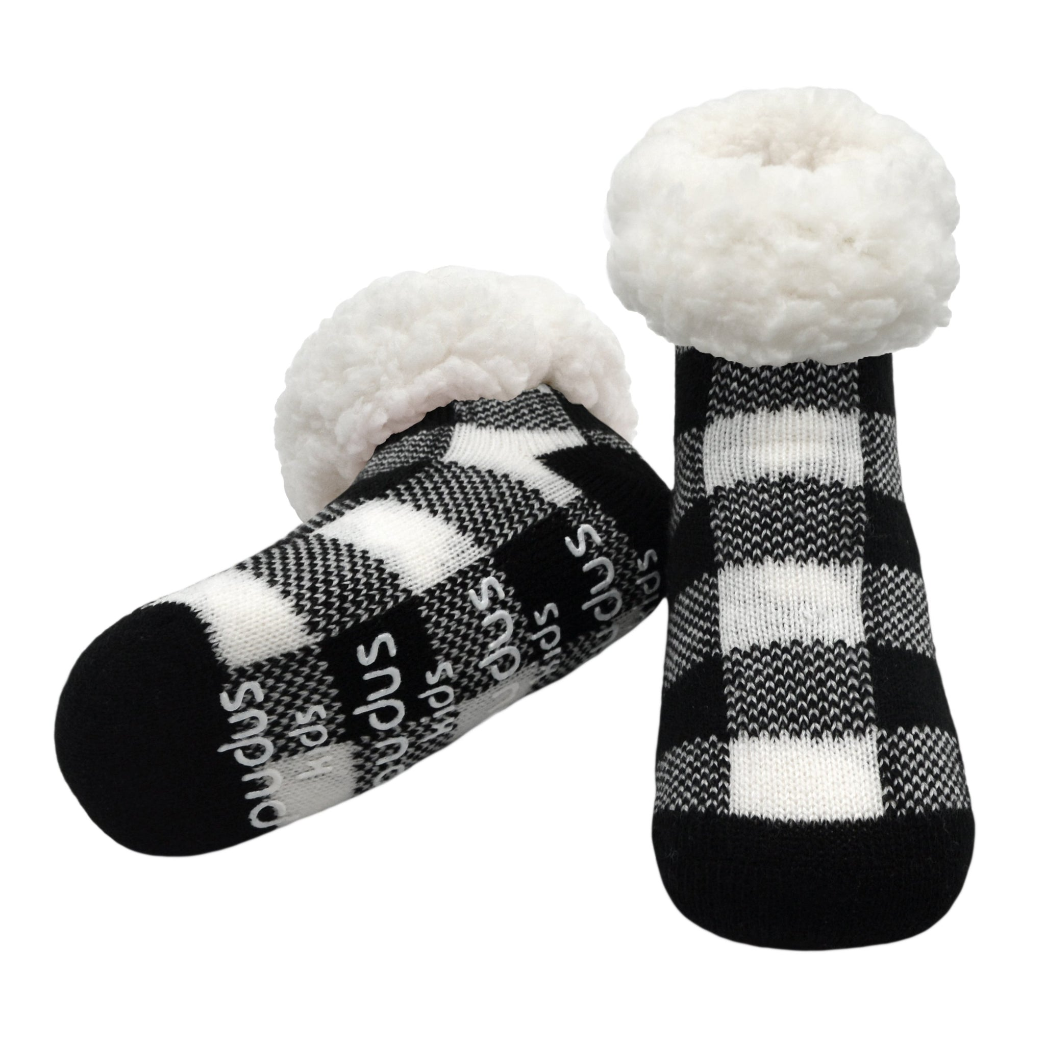 Kids Classic Slipper Socks | Lumberjack White