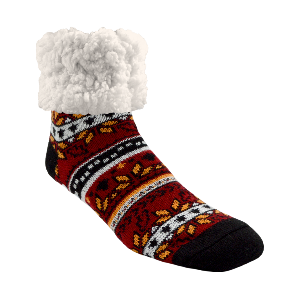 Classic Slipper Socks | Autumn Red