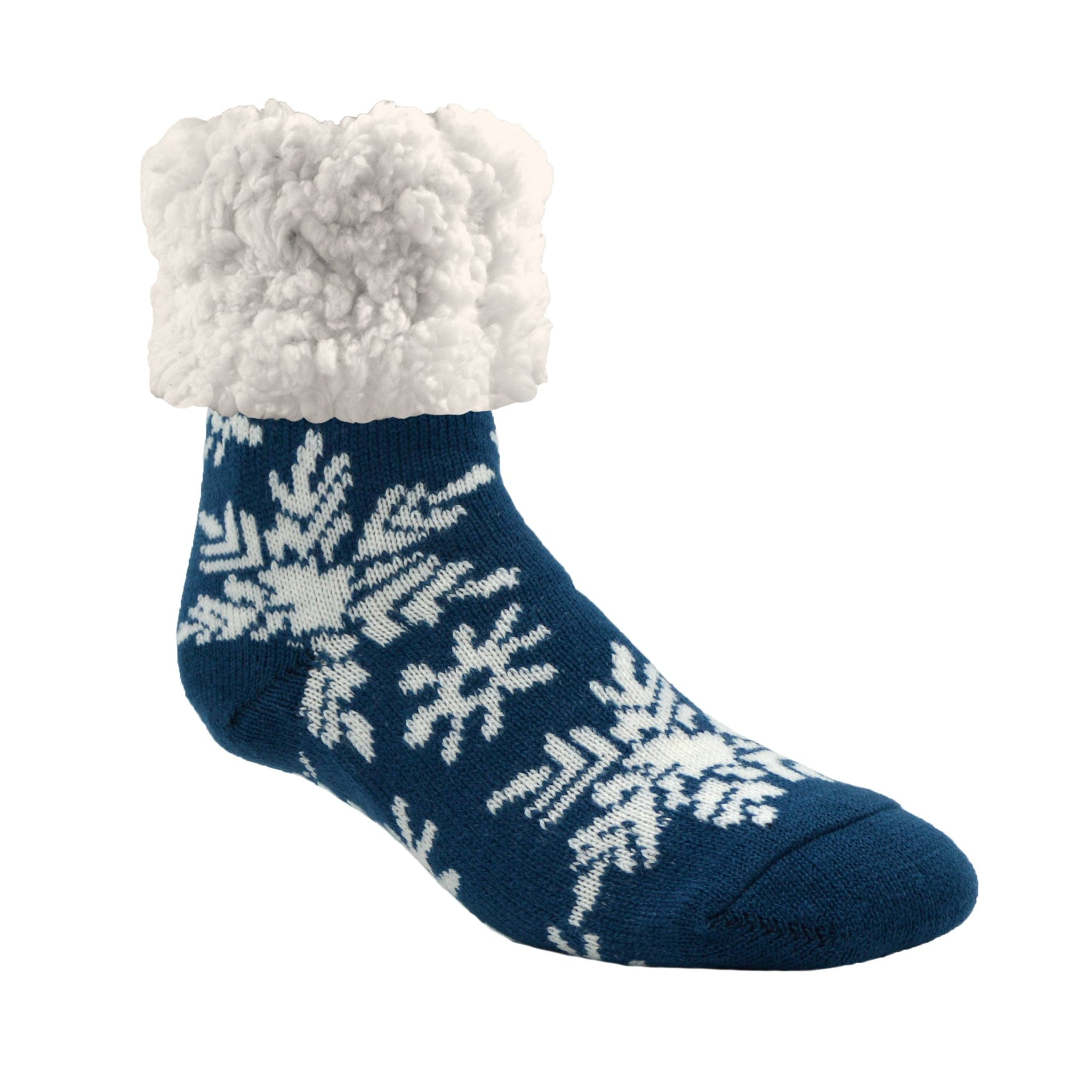 Classic Slipper Socks | Snowflake Oxford