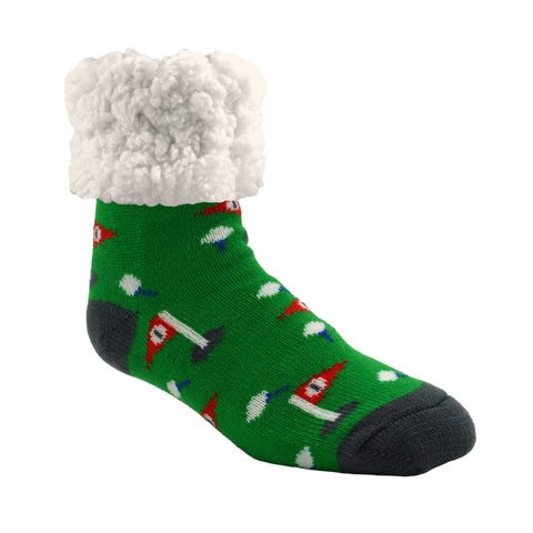 Classic Slipper Socks | Golf Green