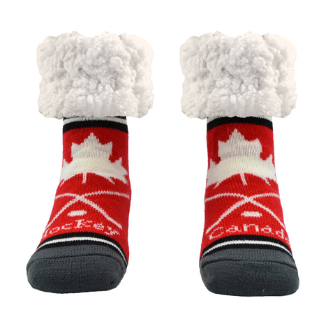 Classic Slipper Socks | Hockey Red