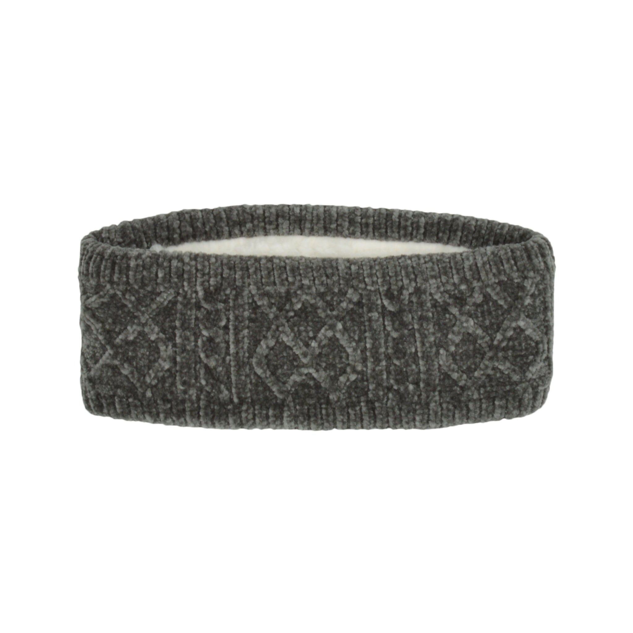 Chenille Knit Headband | Grey