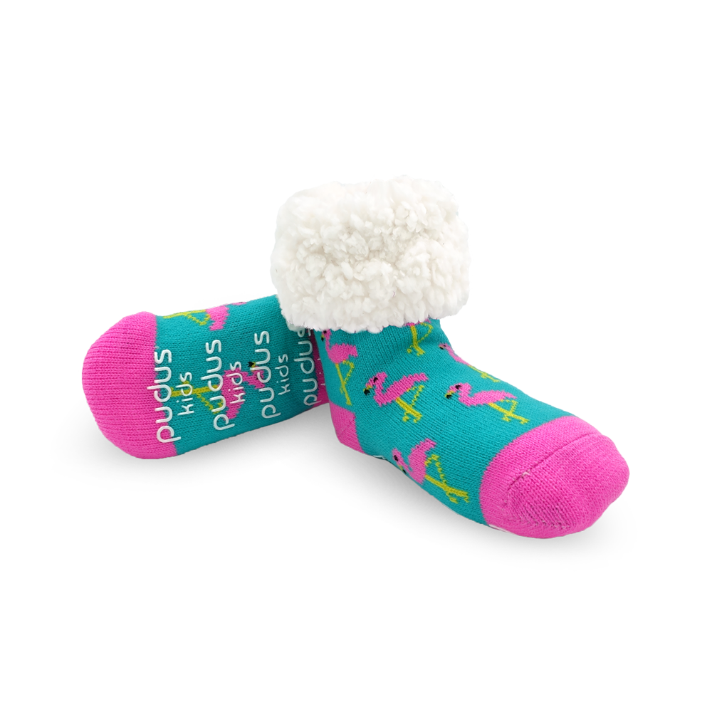Kids Classic Slipper Socks | Flamingo Pink