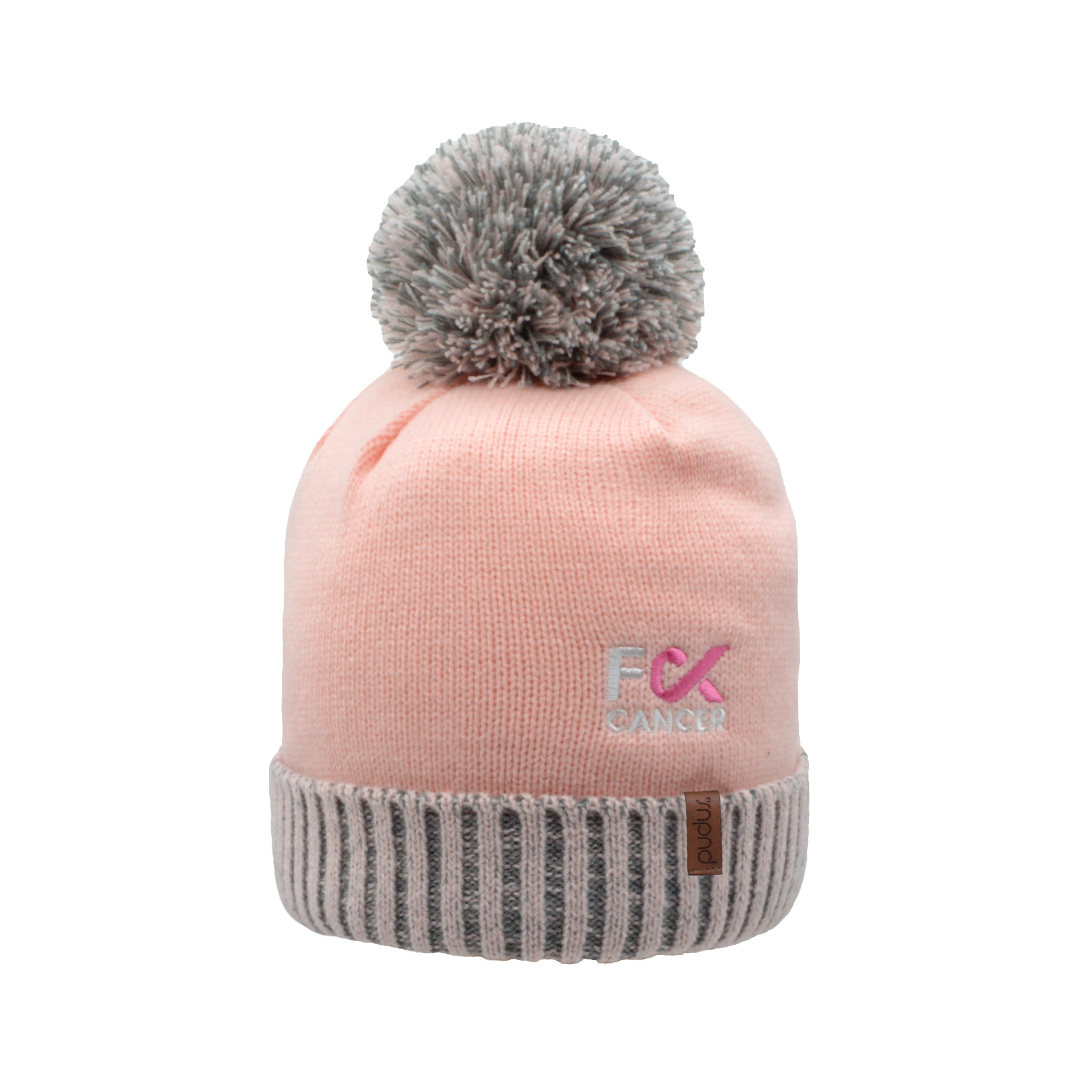 F Cancer x Pudus Beanie Hat | Pink
