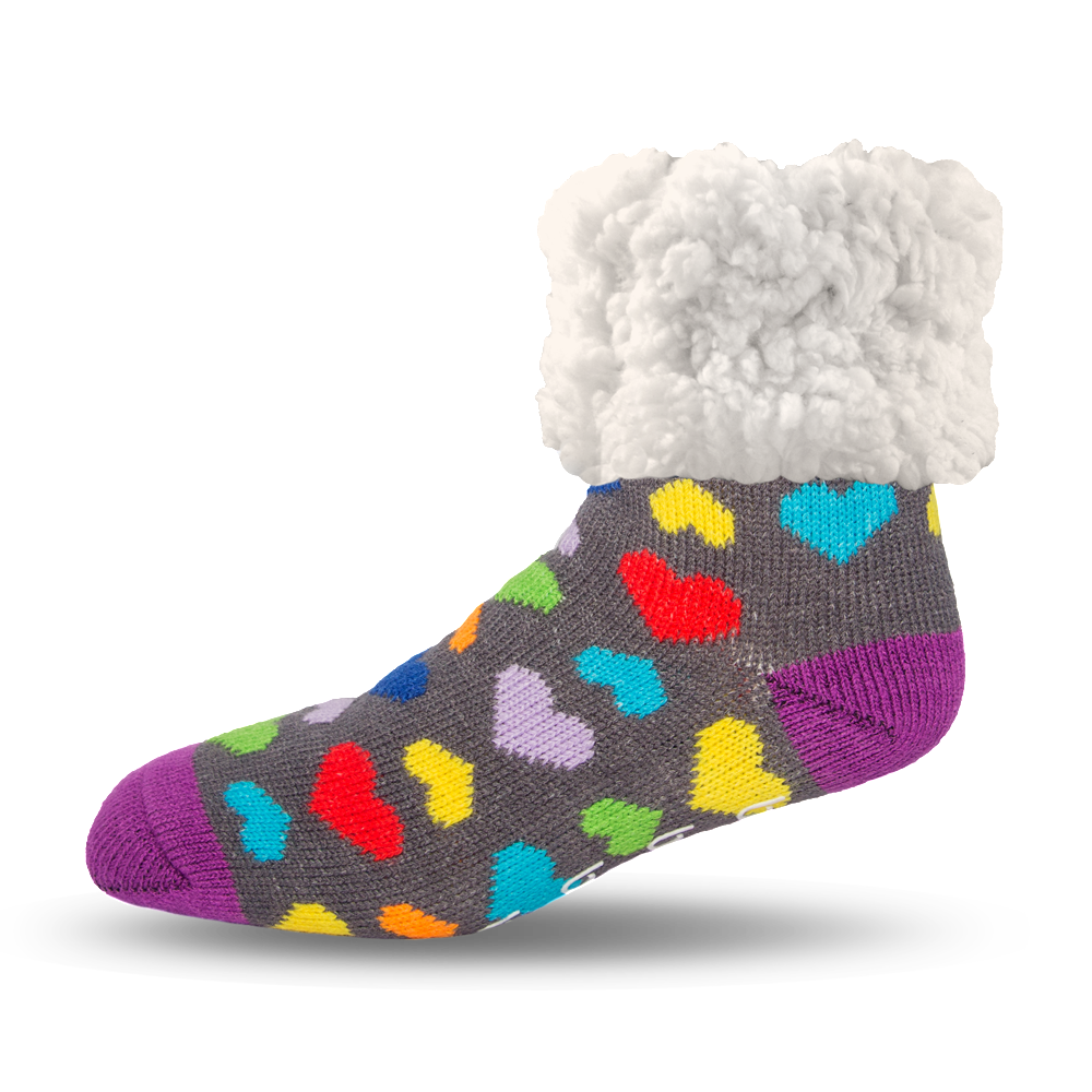 Classic Slipper Socks | Heart  Multi