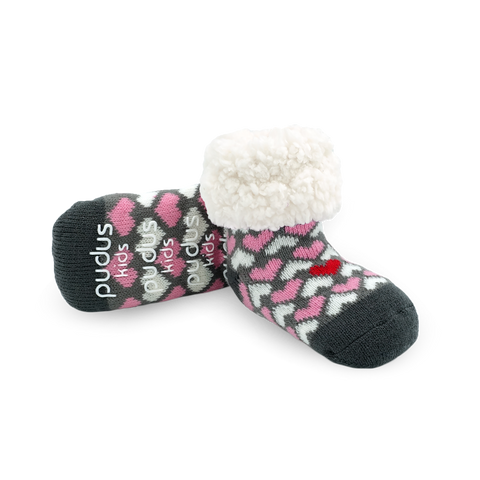 Kids Classic Slipper Socks | Heart Valentine