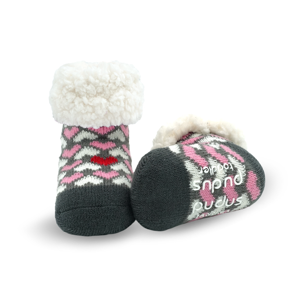 Toddler Classic Slipper Socks | Heart Valentine