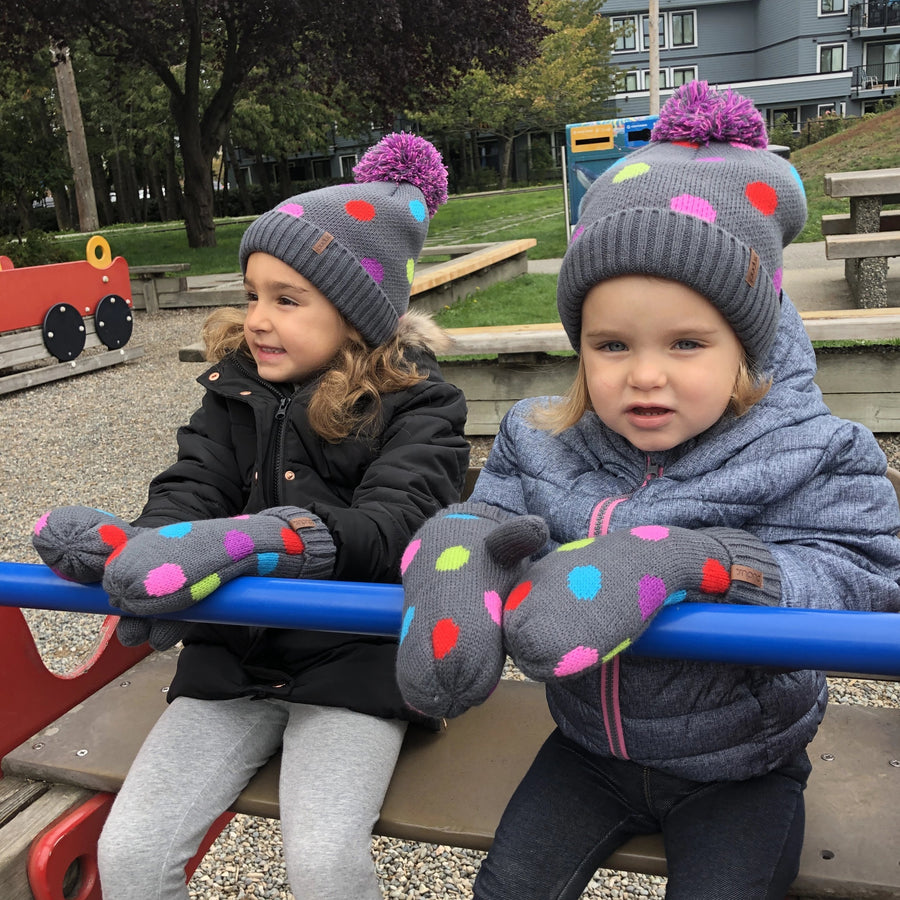 Kids Beanie Hat | Polka Dot Multi