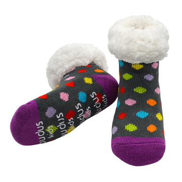 Kids Classic Slipper Socks | Polka Dot Multi