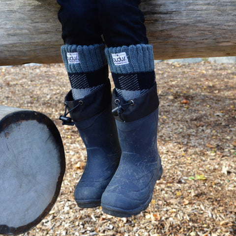 Boot Socks | Lumberjack Grey | Kids Tall