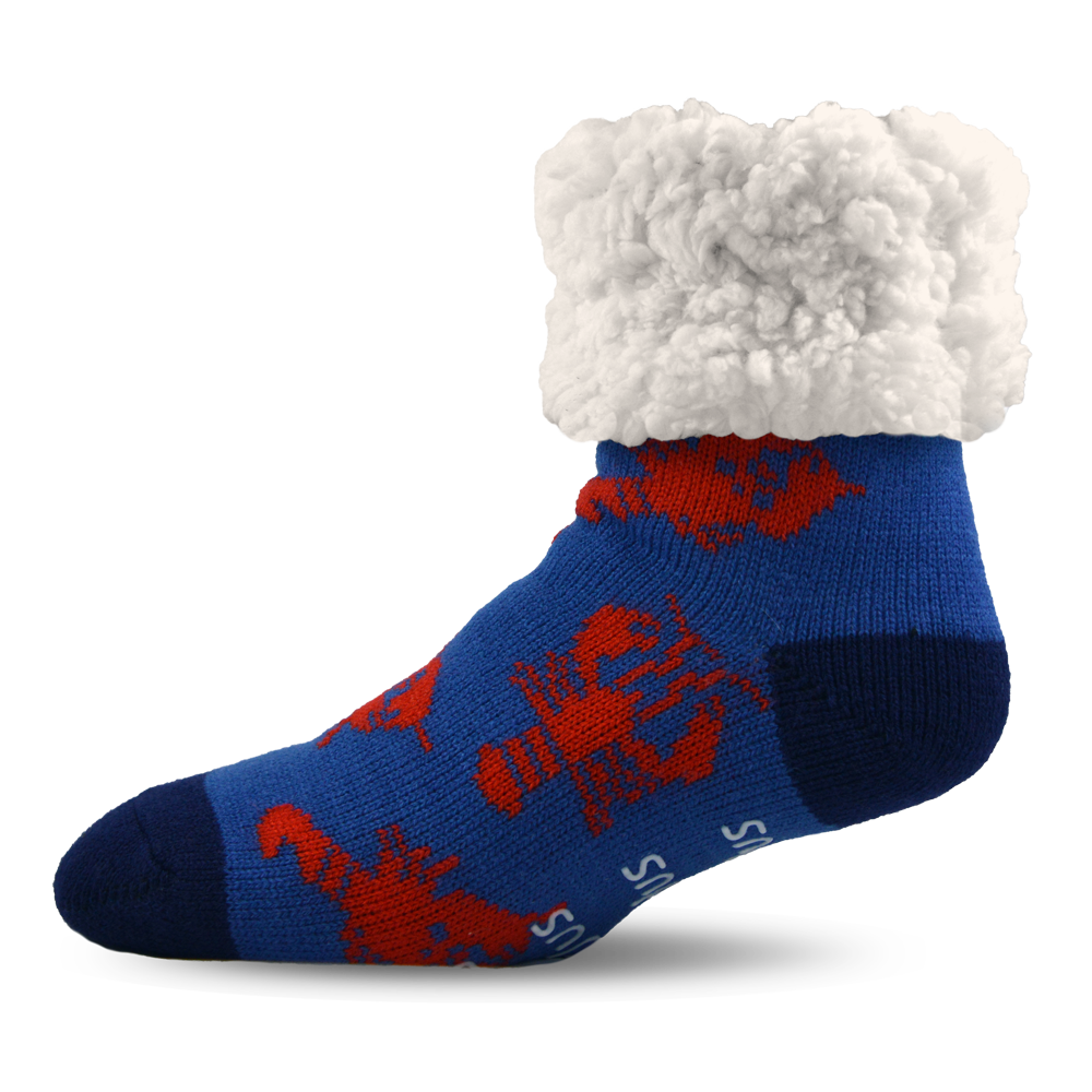 Classic Slipper Socks | Lobster Blue