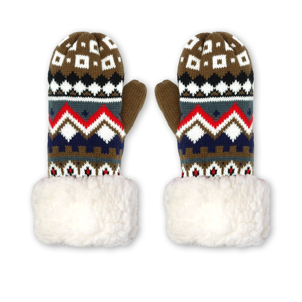 Winter Mittens | Nordic White