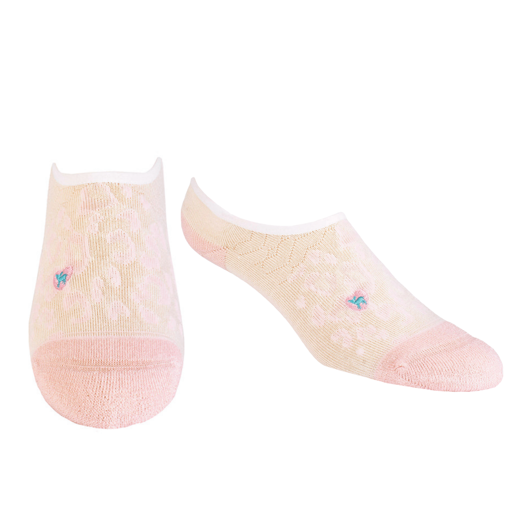 Bamboo Socks | No Fuss No-Show | Purrfectly Pink