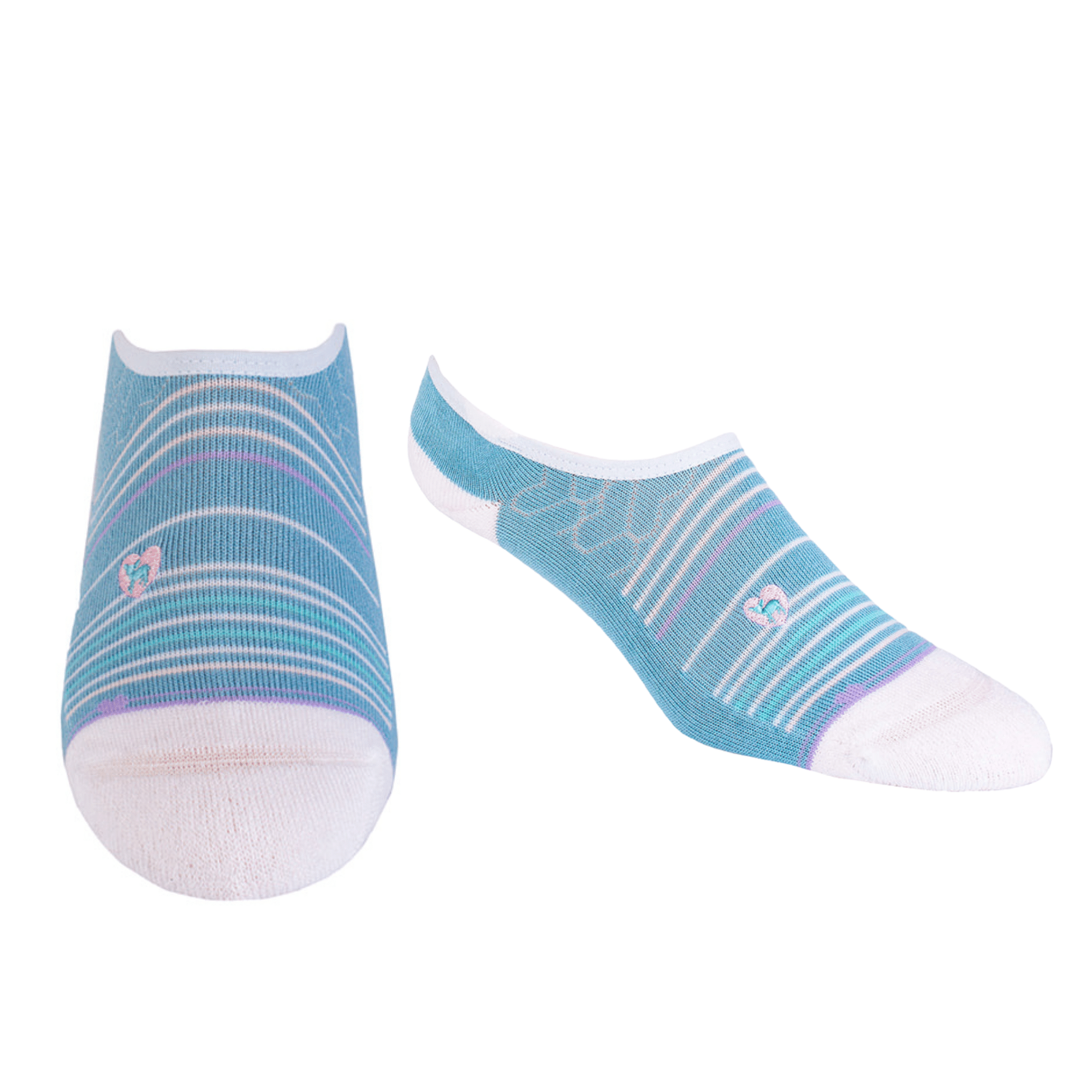 Bamboo Socks | No Fuss No-Show | Seaside Blue