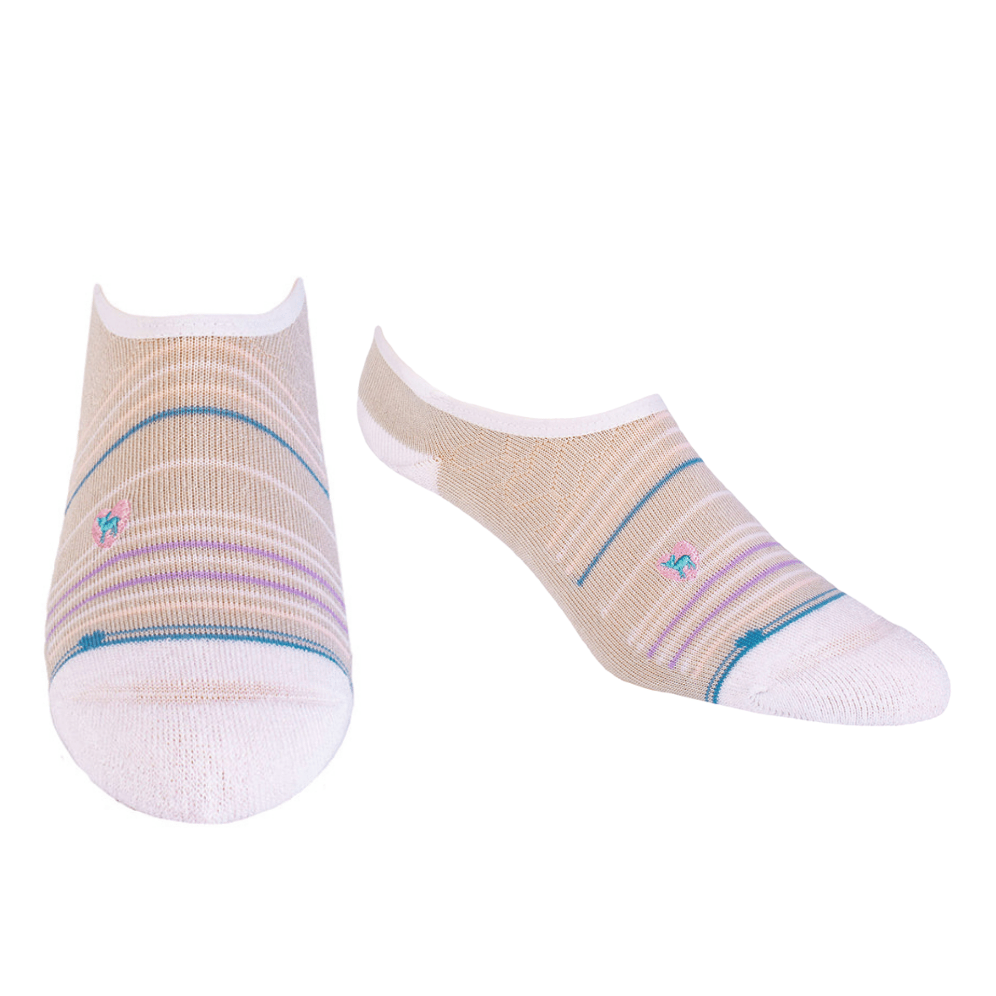 Bamboo Socks | No Fuss No-Show | Seaside Grey