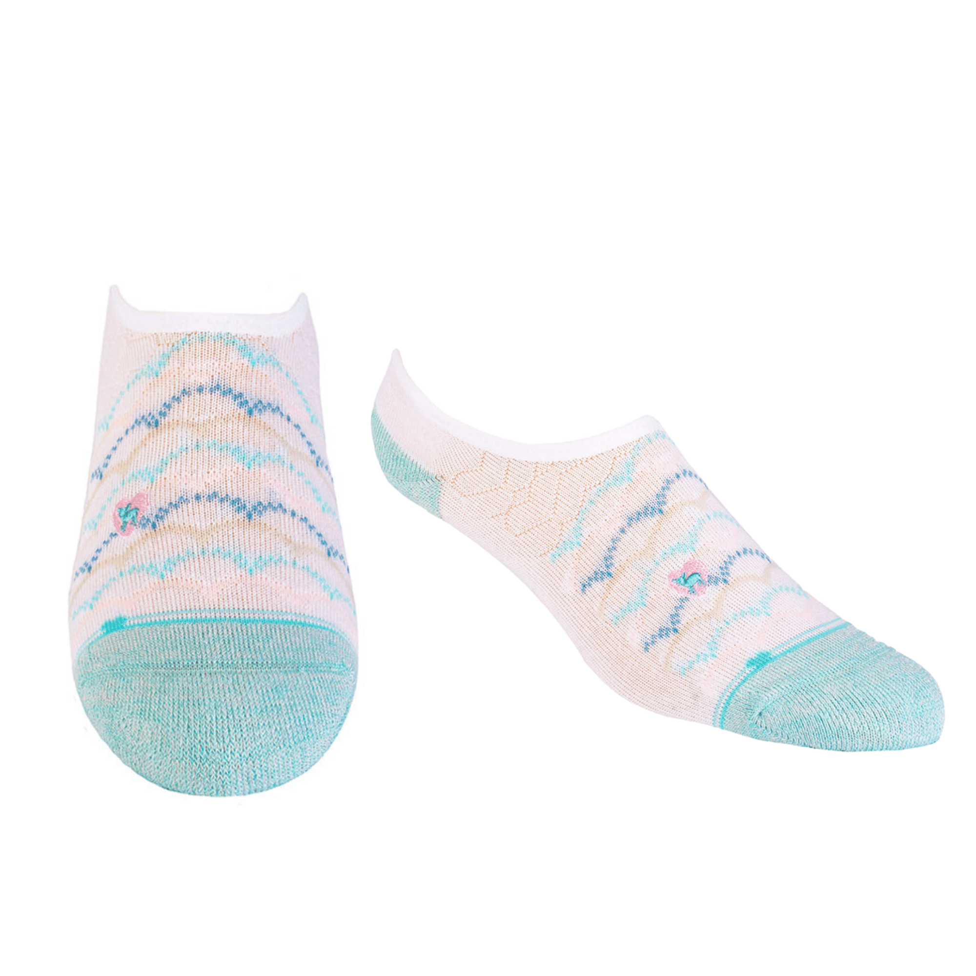 Bamboo Socks | No Fuss No-Show | Surf's Up Green