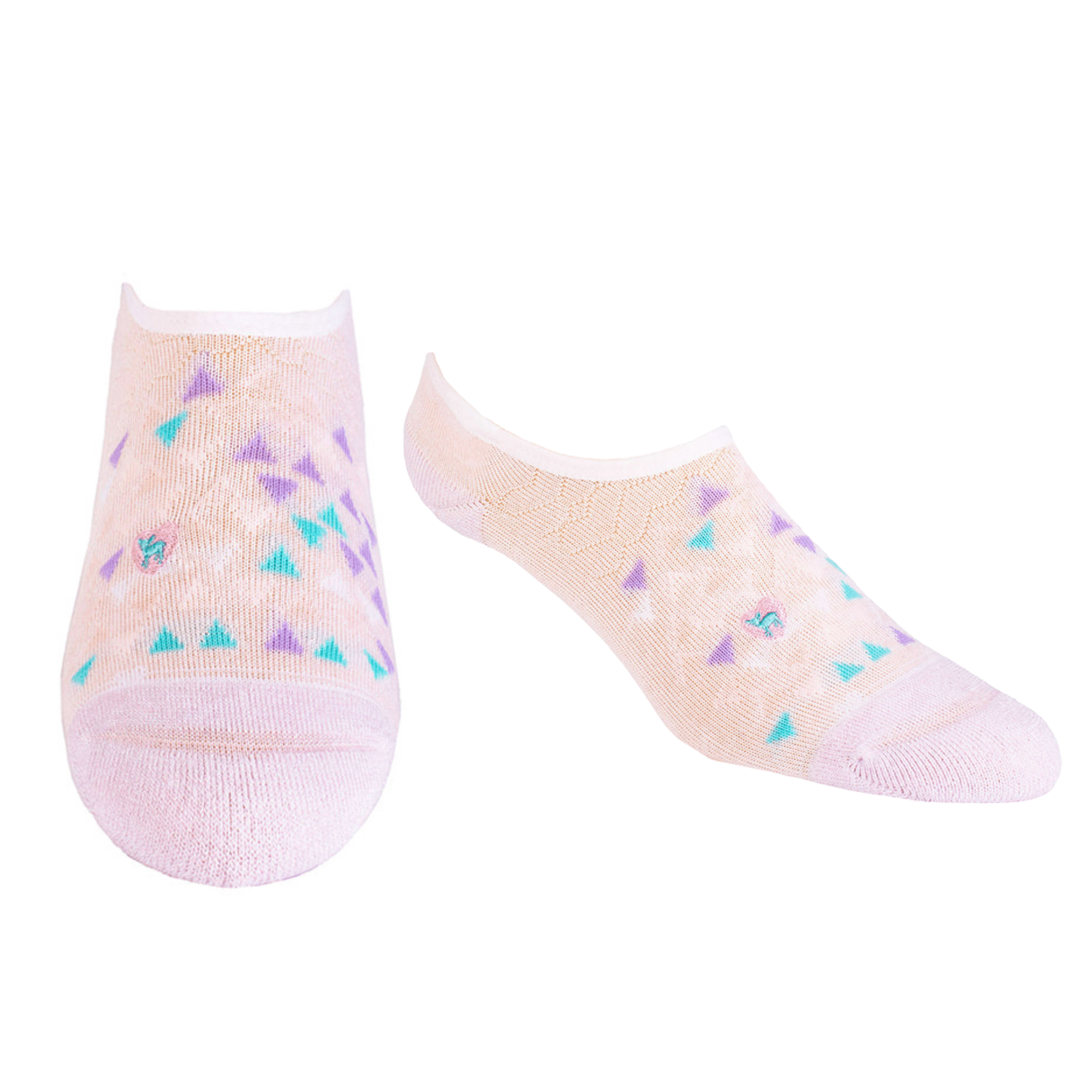 Bamboo Socks | No Fuss No-Show | What's Your Angle Pink