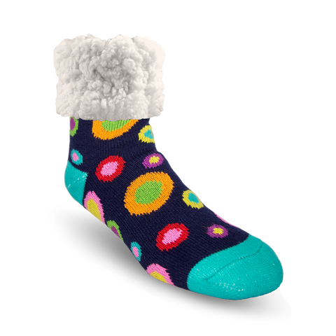 Classic Slipper Socks | Retro Polka Dot
