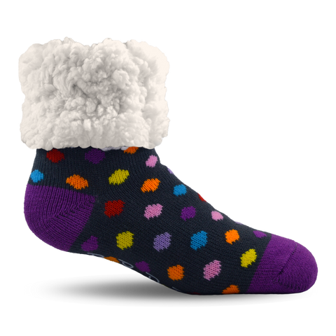 Classic Slipper Socks | Polka Dot Multi