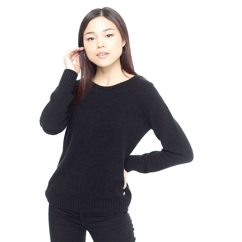 Faux Cashmere Cesani Sweater | Black
