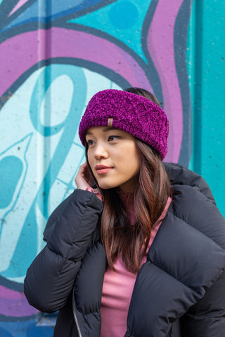 Chenille Knit Headband | Dark Purple