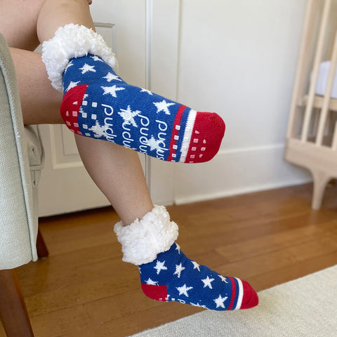 Classic Slipper Socks | USA Stars