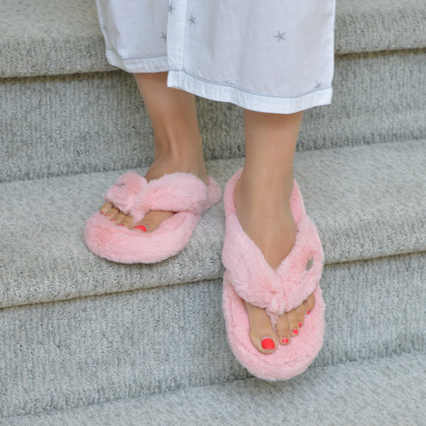 Cottontail Flip Flop Slippers | Blush
