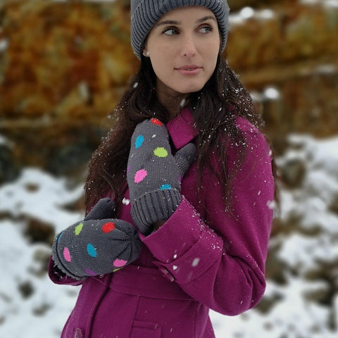 Winter Mittens | Polka Dot Multi