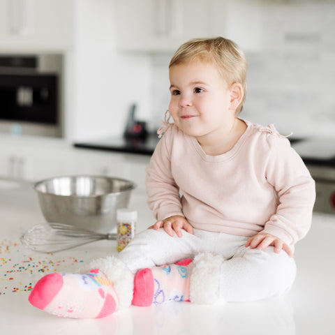 Toddler Classic Slipper Socks | Unicorn Pink