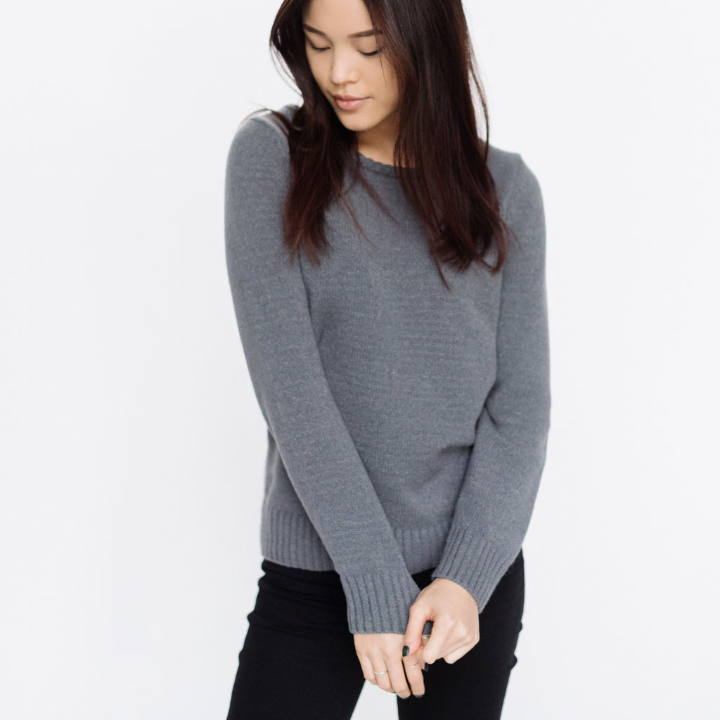 Faux Cashmere Cesani Sweater | Grey