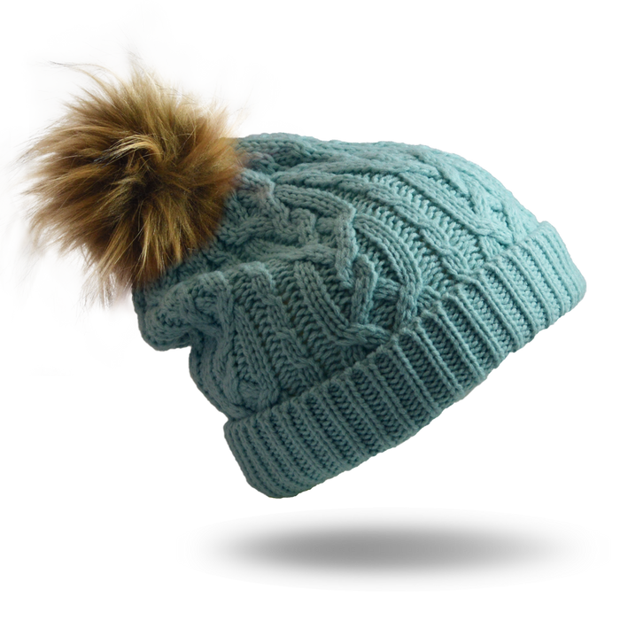 CABLE KNIT MINT - HAT - NEW