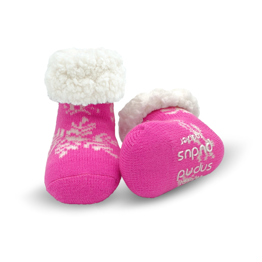 Toddler Classic Slipper Socks | Snowflake Pink