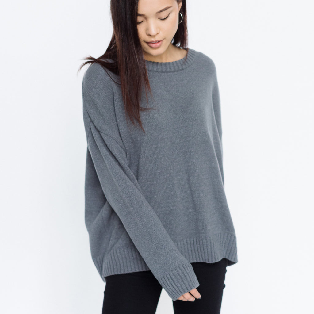 Faux Cashmere Marchesi Sweater | Grey