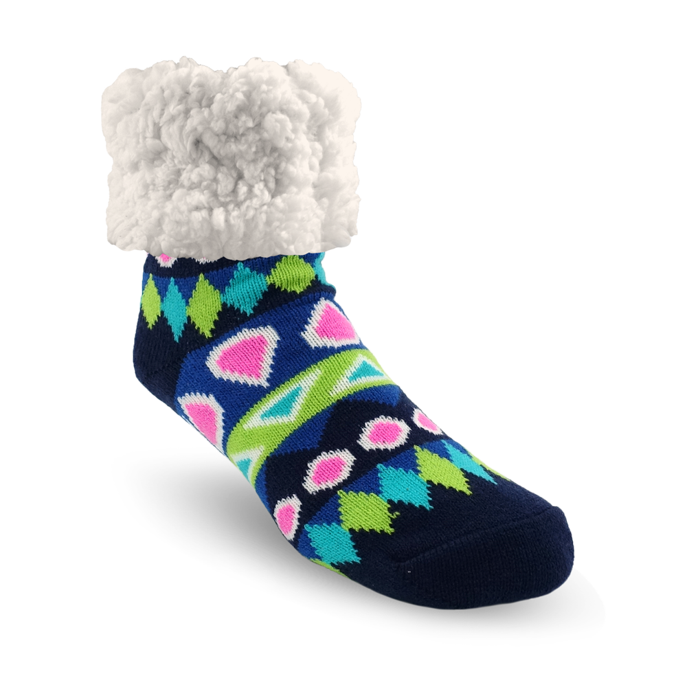 Classic Slipper Socks | Southwest Blue